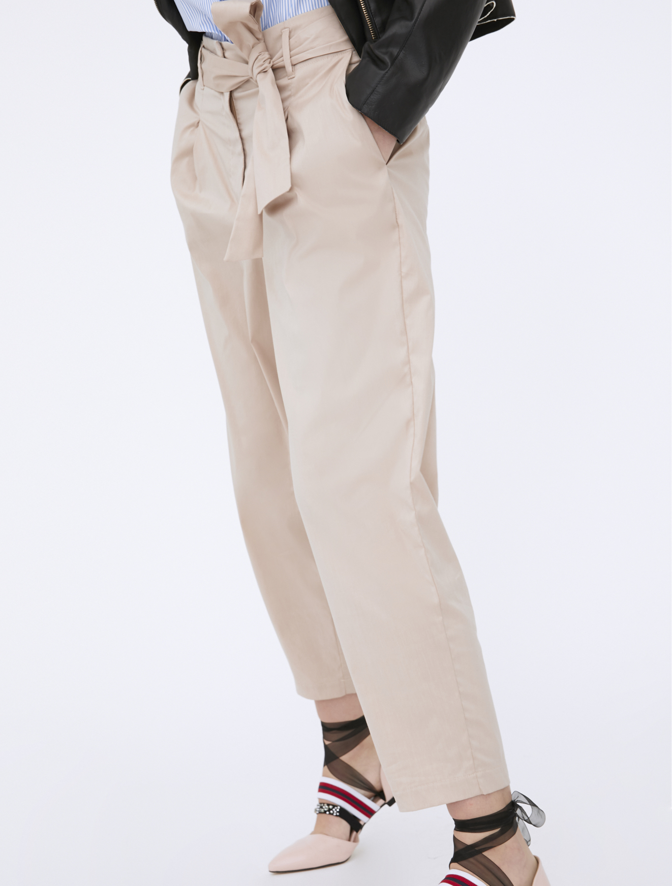 new arrival 07a19 346ac I BLUES Pantaloni RISICO Beige 04