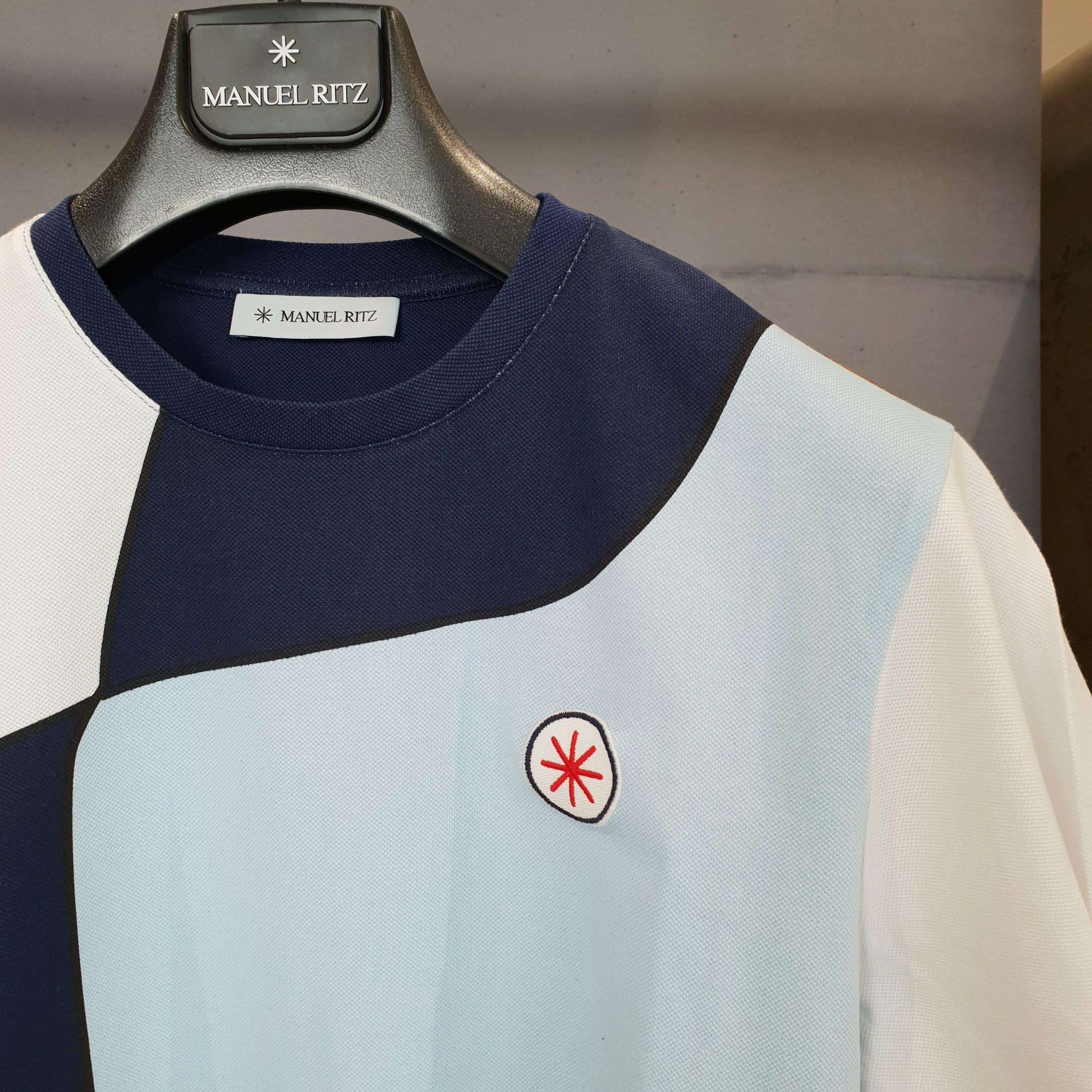 MANUEL RITZ T-Shirt Uomo XL Azzurro 2632m528 193383 Primavera Estate 2019
