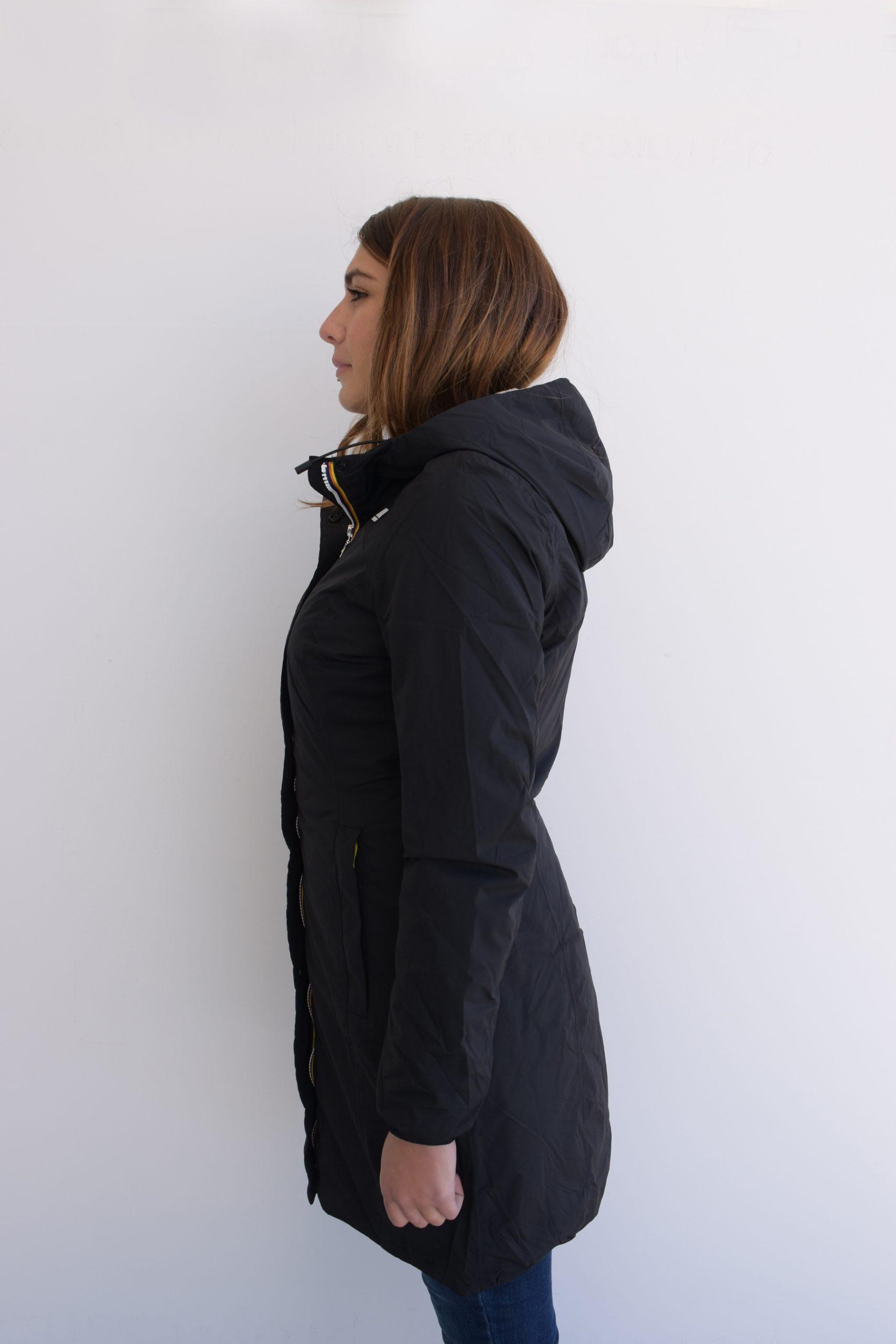 K-Way Giubbino Donna Modello Charlene Micro Ripstop Marmotta K2112WW//A3C Colore Black Collezione Autunno Inverno 2020